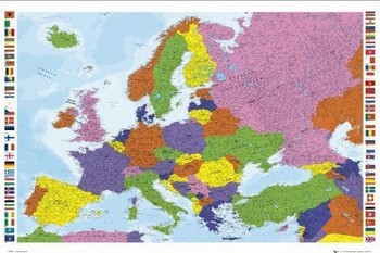 Poster European map - new