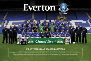 Everton - Team photo 07/08 Poster