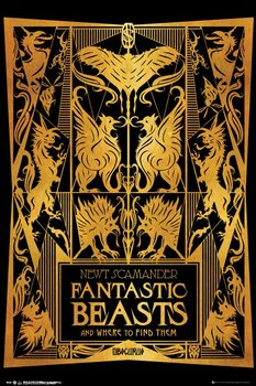 Poster  Fantastic Beasts And Where To Find Them - Book Cover