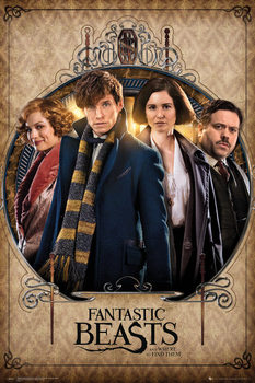 Poster  Fantastic Beasts And Where To Find Them - Group Frame