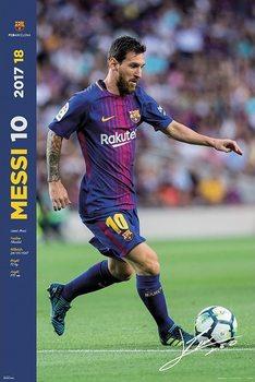 FC Barcelona 2017/2018  - Messi Accion Poster