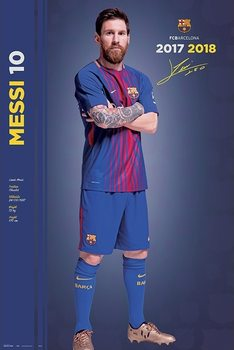 Fc Barcelona 2017/2018 Messi  - Pose Poster