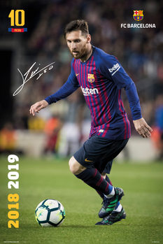 Poster  FC Barcelona 2018/2019 - Messi Accion