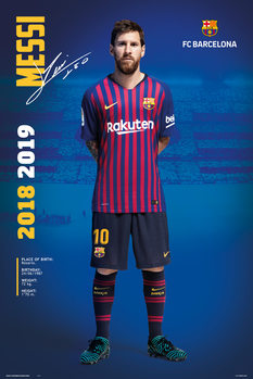 FC Barcelona 2018/2019 - Messi Pose Poster