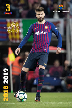 FC Barcelona 2018/2019 - Pique Poster