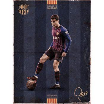 FC Barcelona - Coutinho Vintage Art Print