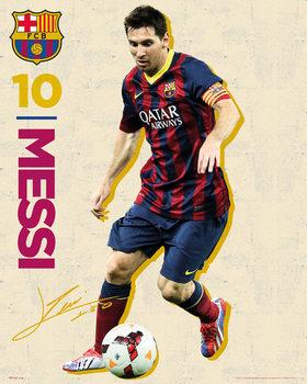 Poster FC Barcelona - Messi Vintage 13/14