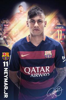FC Barcelona - Neymar 15/16 Poster, Art Print