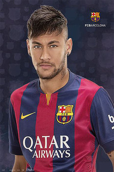 FC Barcelona - Neymar Jr. Poster, Art Print