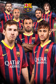 FC Barcelona - players 13/14 Poster