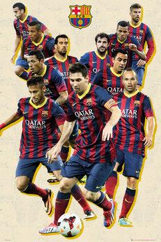 FC Barcelona - players vintage Poster