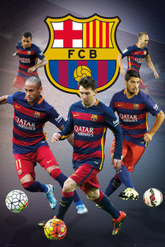 FC Barcelona - Star Players Poster, Art Print