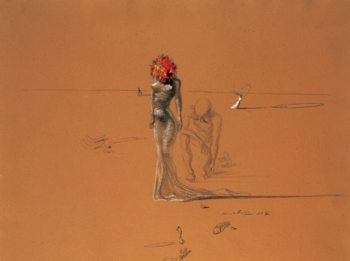 Female Figure with Head of Flowers, 1937  Art Print