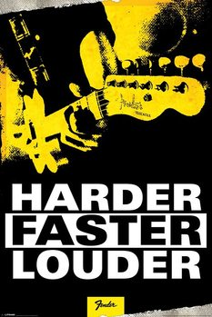 Pôster Fender - Harder, Faster, Louder
