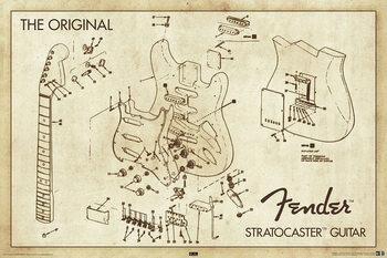Fender - stratocaster Poster