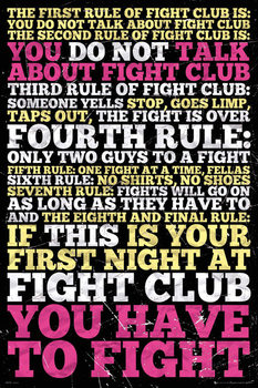 Poster  Fight club -  8 rules
