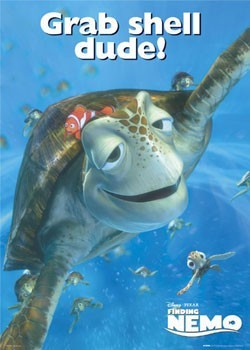 FINDING NEMO– turtle Poster