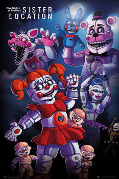 Poster Five Nights At Freddys's - Sister Location Group