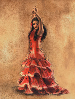 FLAMENCO DANCER I Art Print