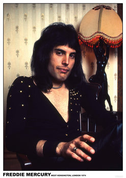 Freddie Mercury - London 1974 Poster
