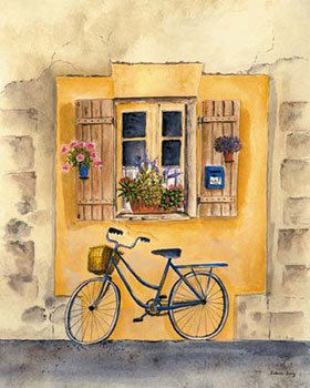 French Bicycle II Art Print