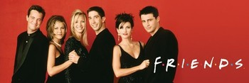 FRIENDS - red Poster
