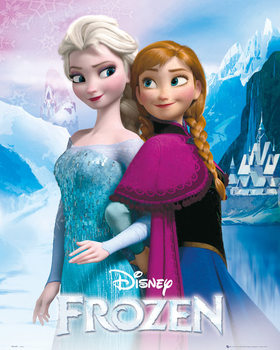 Frozen - Elsa and Anna Poster, Art Print