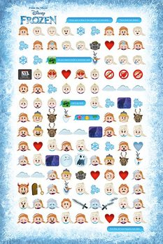 Poster Frozen - Told By Emojis
