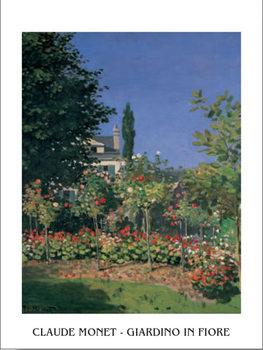 Garden at Sainte Adresse, 1876 Art Print