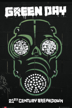 Green Day - gas mask Poster