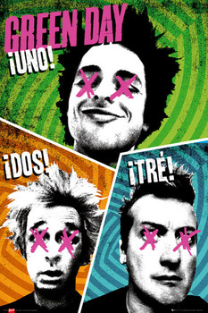 Green Day - trio Poster, Art Print