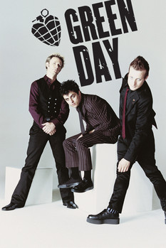 Green Day - white Poster