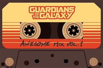 Pôster Guardians Of The Galaxy - Awesome Mix Vol 1
