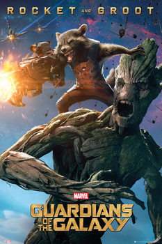 Guardians of the Galaxy - Groot and Rocket Poster, Art Print