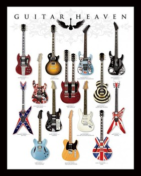 Guitar heaven Poster, Art Print