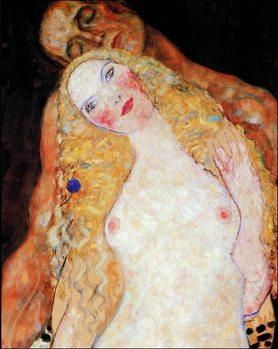 Gustav Klimt - Adamo ed Eva Art Print