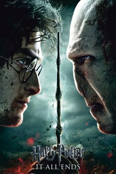 HARRY POTTER 7 - part 2 teaser Poster, Art Print