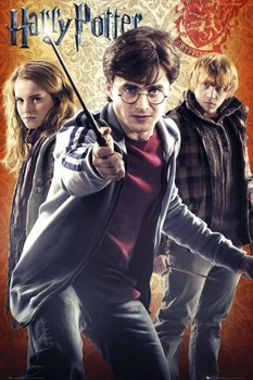 HARRY POTTER 7 - trio Poster, Art Print