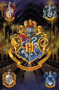 Harry Potter - Crests Poster, Art Print