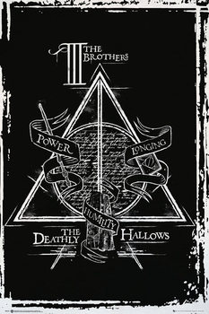 Pôster Harry Potter - Deathly Hallows Graphic