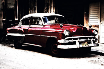 Havana - Classic Red Oldtimer Poster