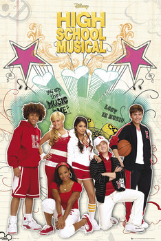 HIGH SCHOOL MUSICAL 2 - cast Poster