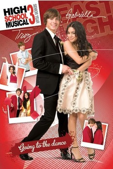 Poster HIGH SCHOOL MUSICAL 3 - troy and gabriella II