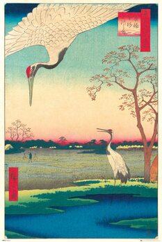 Hiroshige - Kanasugi at Mikawashima Poster