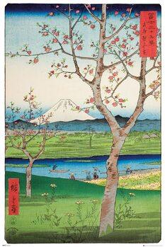 Poster Hiroshige - The Outskirts of Koshigaya