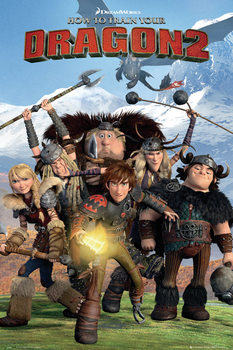 How to Train Your Dragon 2 - Cast Poster, Art Print