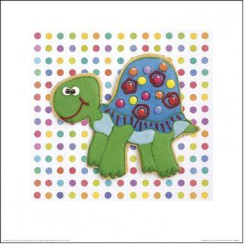 Howard Shooter and Lauren Floodgate - Trundling Tortoise Art Print