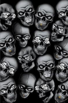 Hybrid - skulls Poster