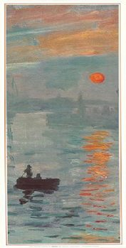 Imprese, východ slunce - Impression, soleil levant, 1872 (část) Art Print