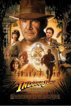Poster INDIANA JONES - kingdom of the crystal skull one sheet